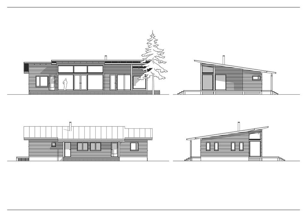 Одноэтажный финский дом из клееного бруса от Pluspuu Oy