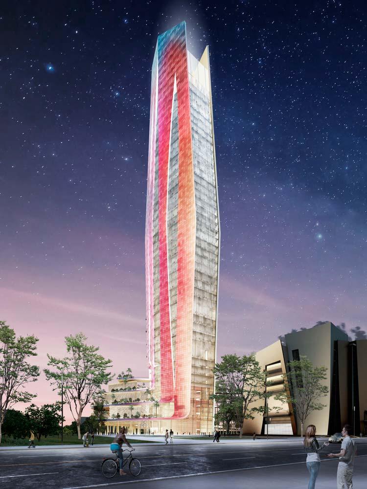 Светящийся небоскрёб от Элизабет де Портзампарк