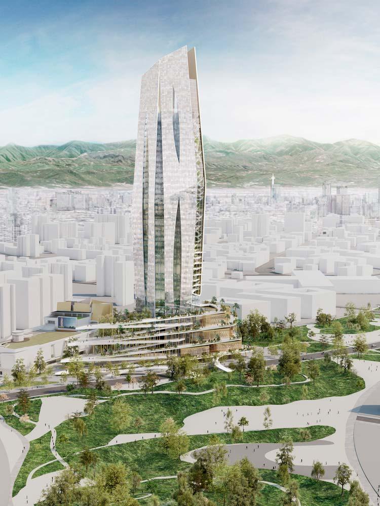 Современная башня на Тайване от Элизабет де Портзампарк