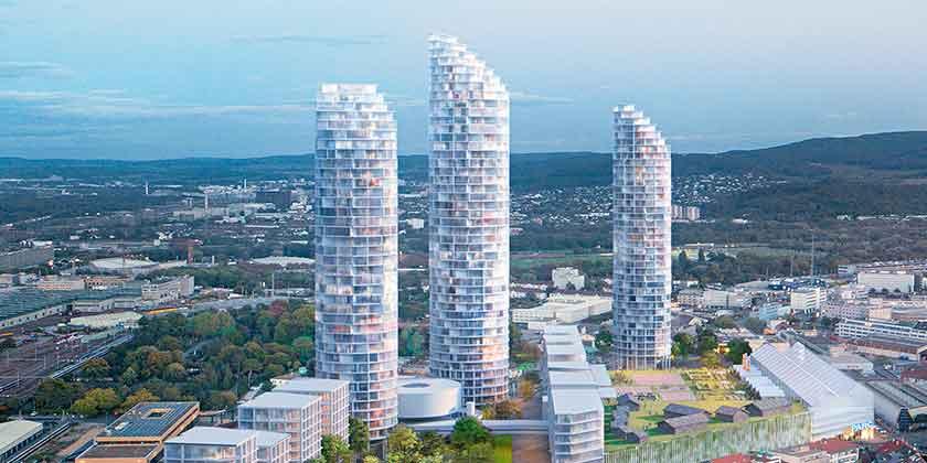 Herzog & De Meuron построит три башни в Базеле