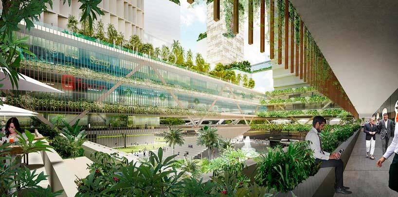 Деловой кластер JLD в Сингапуре: эко-небоскребы от KCAP