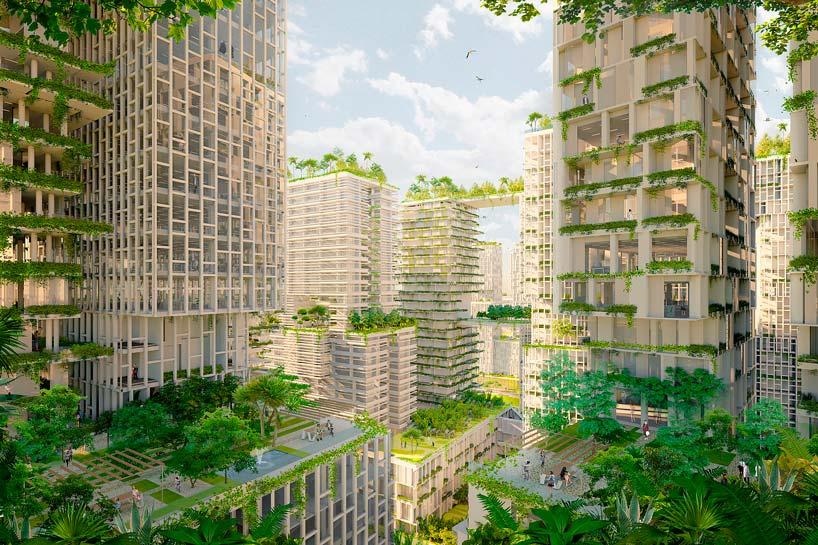 Зелёные небоскребы от KCAP в Сингапуре