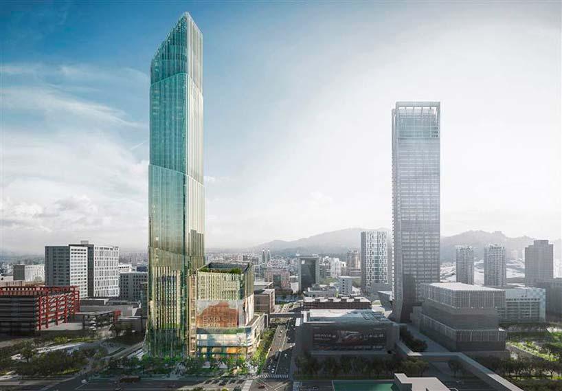 Новый небоскрёб в Тайбэе. Высота 280 метров
