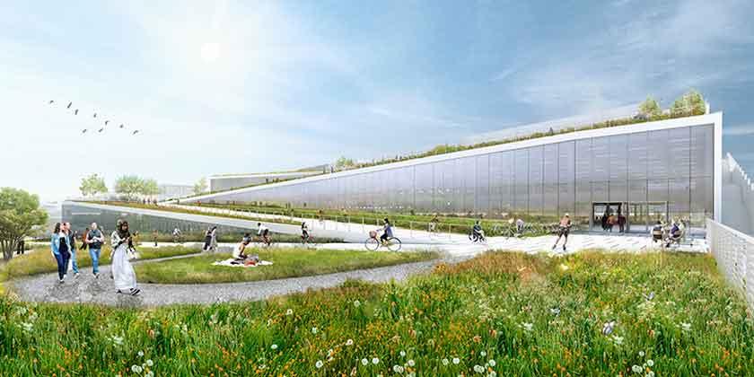 BIG показал каким будет новый кампус Google в Калифорнии