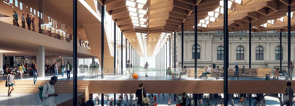 Подиум башни в Осло от Reiulf Ramstad Architects
