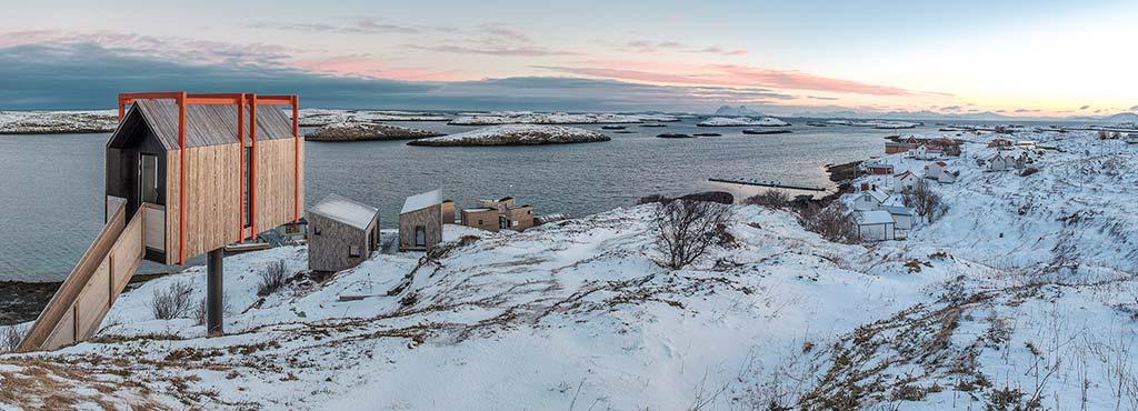 Поселок на берегу Норвежского моря от TYIN Tegnestue