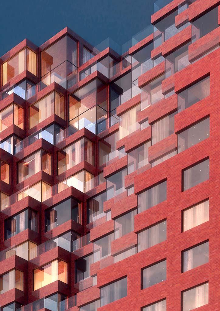Керамический фасад здания от MVRDV