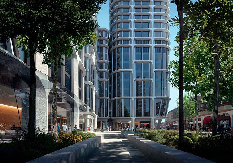 Новые небоскрёбы в Лондоне Vauxhall Cross Island от ZHA