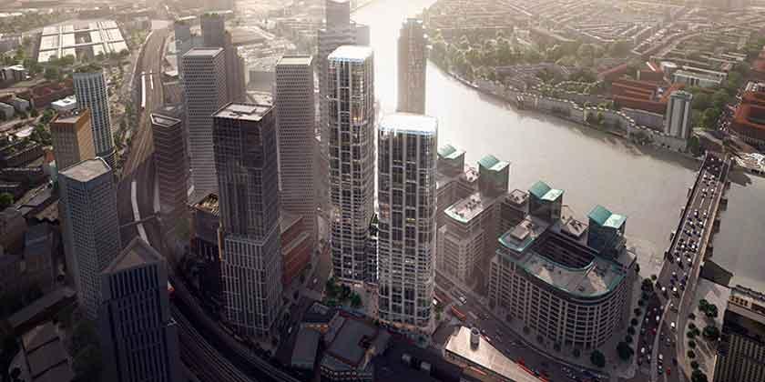 Zaha Hadid Architects построит два небоскреба в Лондоне