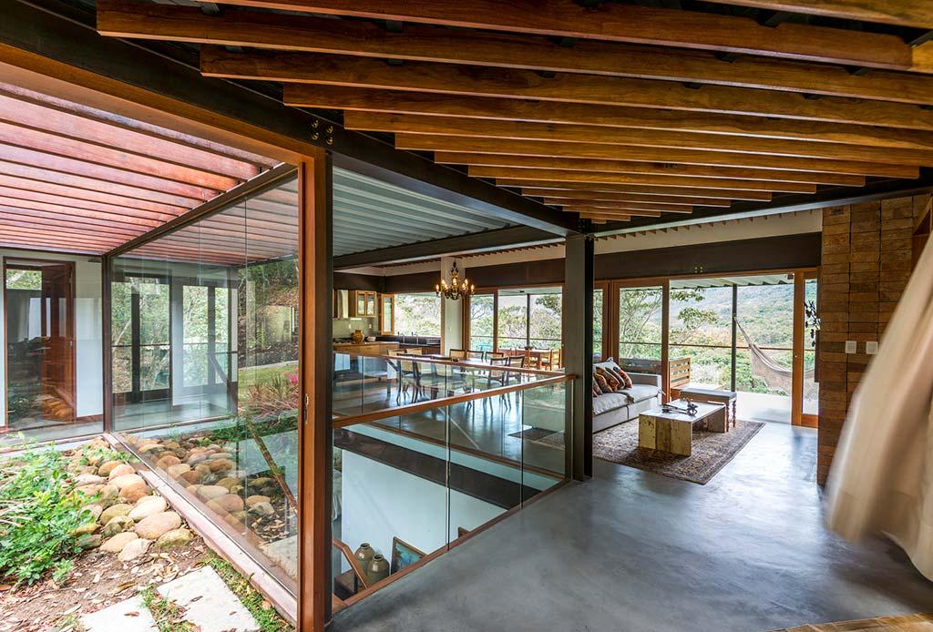 Стеклянный дизайн интерьера от G Arquitetura e Urbanismo