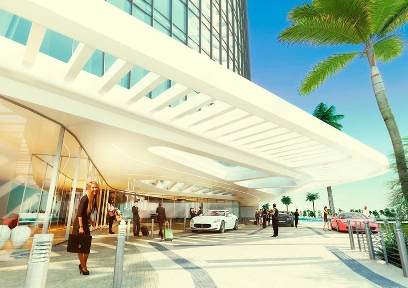 Новый небоскреб для элитного отеля на берегу Персидского залива