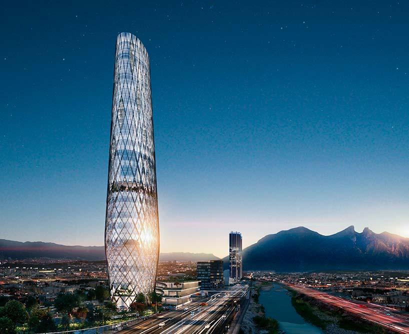 Constitución 999 - самый высокий небоскреб Монтеррея от SMA