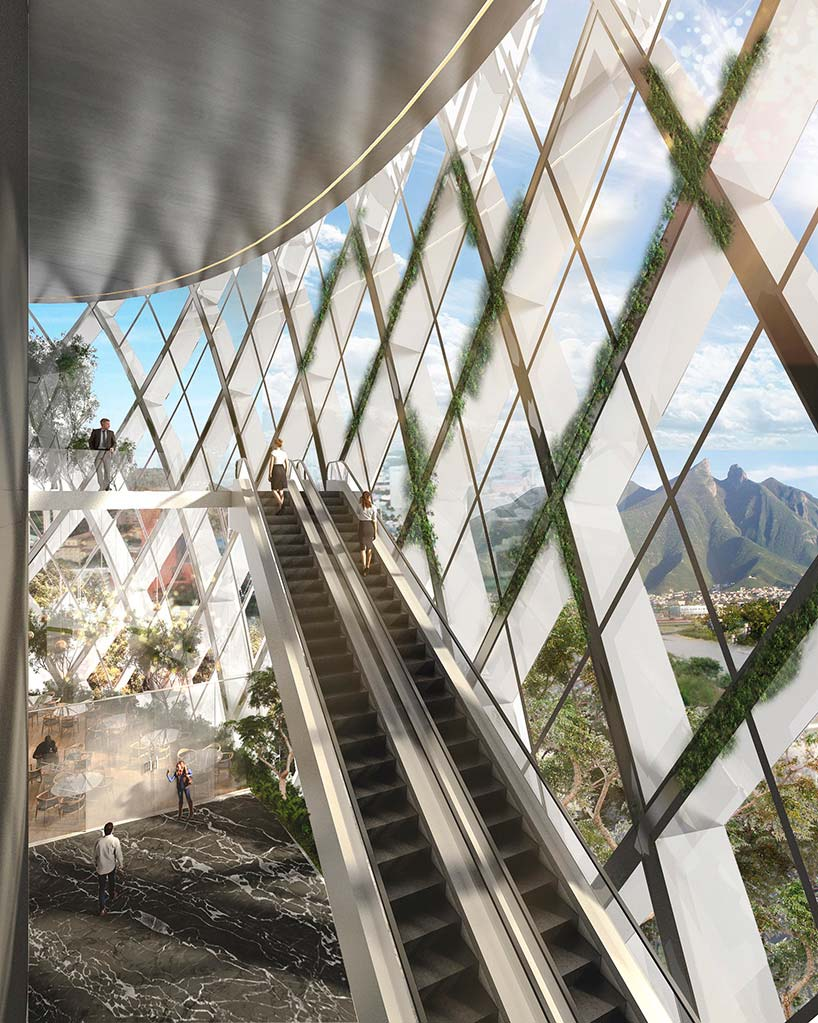 Стеклянная башня с экзоскелетом. Проект SMA