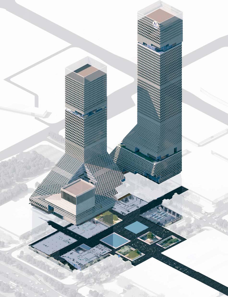 Проект двух башен для Шэньчжэня от Mecanoo