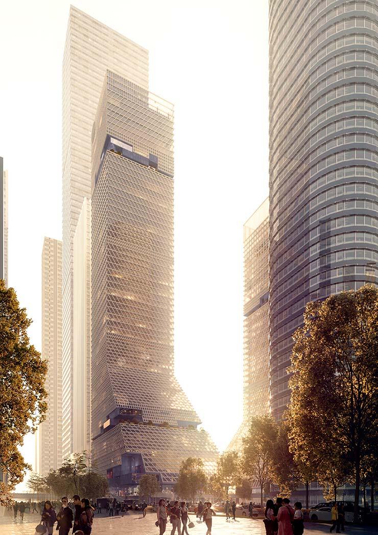 Башня для Шэньчжэня от голландской студии Mecanoo
