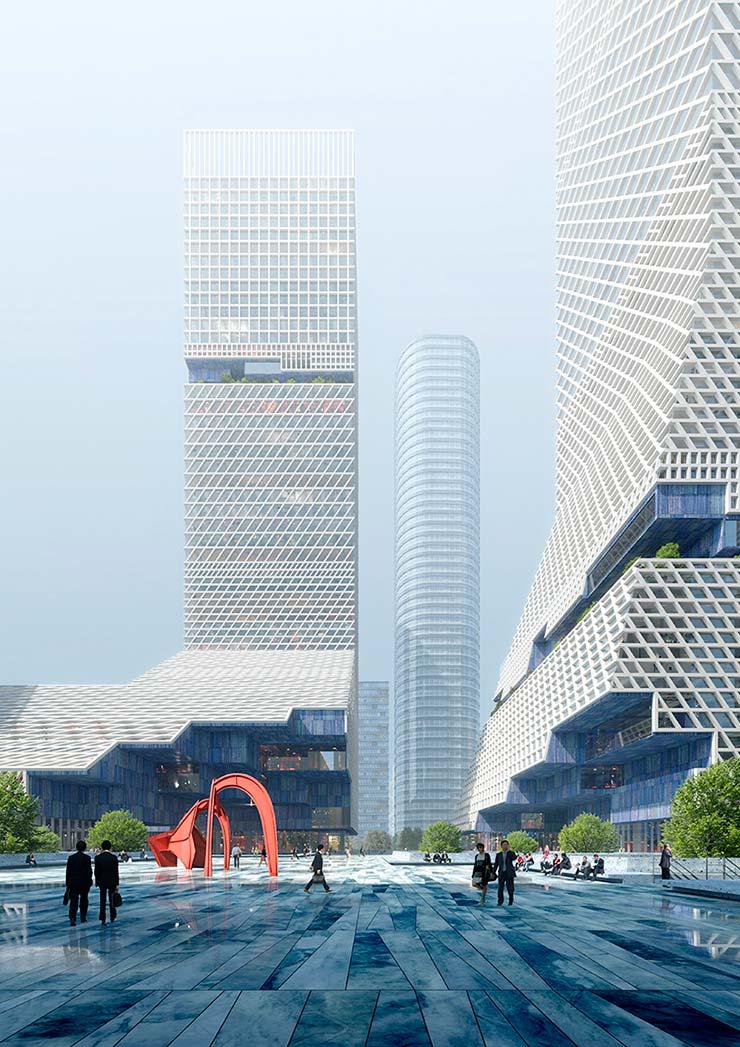 Два небоскрёба Шэньчжэня. Проект студии Mecanoo