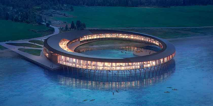 Snøhetta построит отель-кольцо в норвежских горах | фото