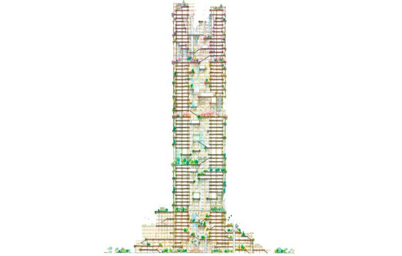 Самая высокая деревянная башня в мире. 70 этажей