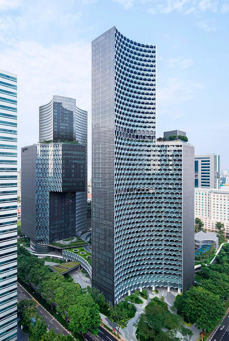Башни DUO в Сингапуре. Проект Ole Scheeren