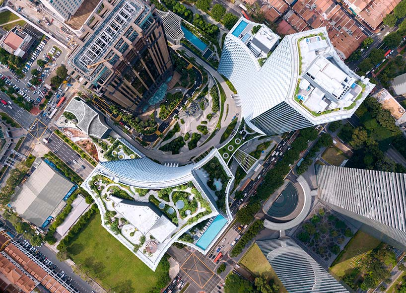 Небоскребы DUO в Сингапуре. Проект Ole Scheeren