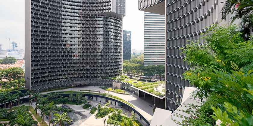 Ole Scheeren построила скульптурные башни DUO в Сингапуре