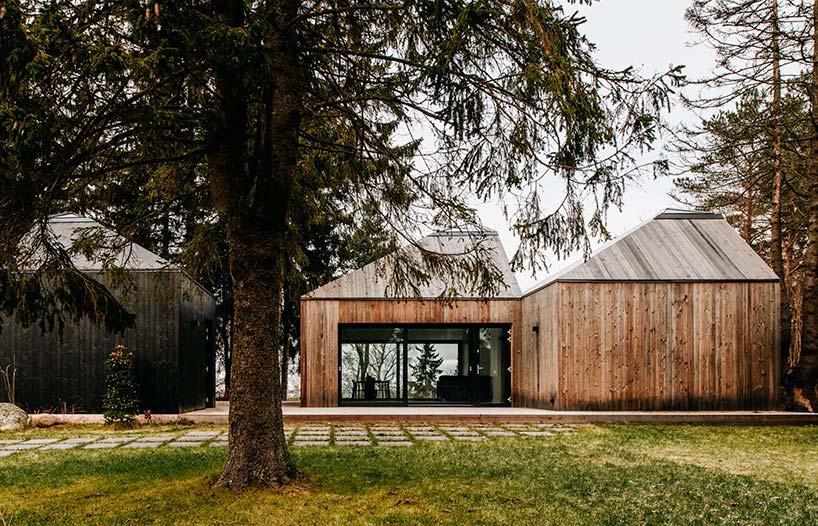Деревянный дом интроверта в лесу от KUU Arhitektid