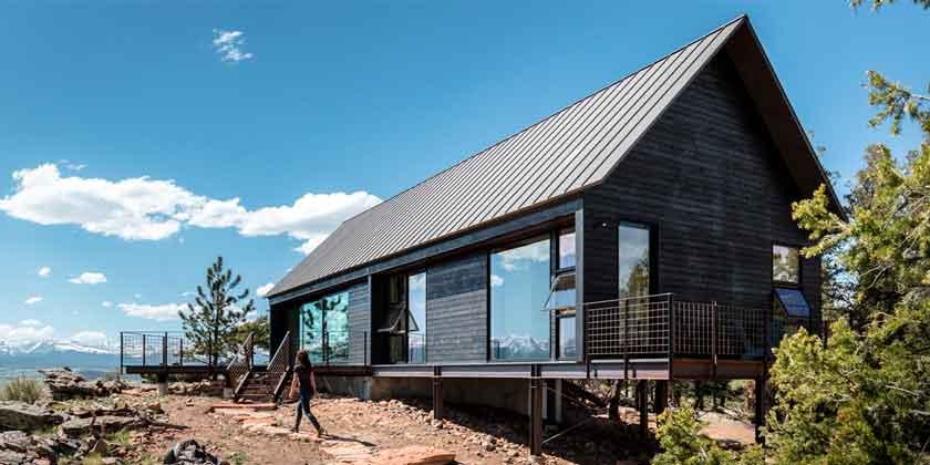 Дом на скале в Колорадо от Renee del Gaudio Architecture