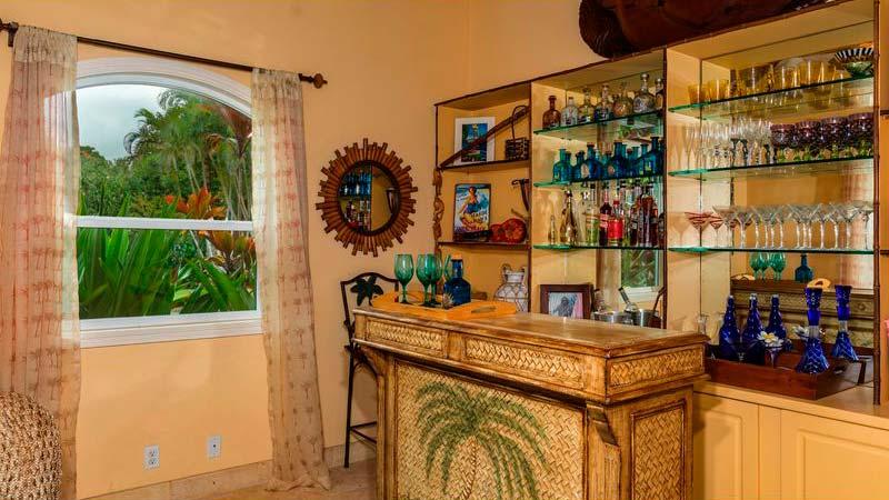 Домашний бар в гавайском стиле