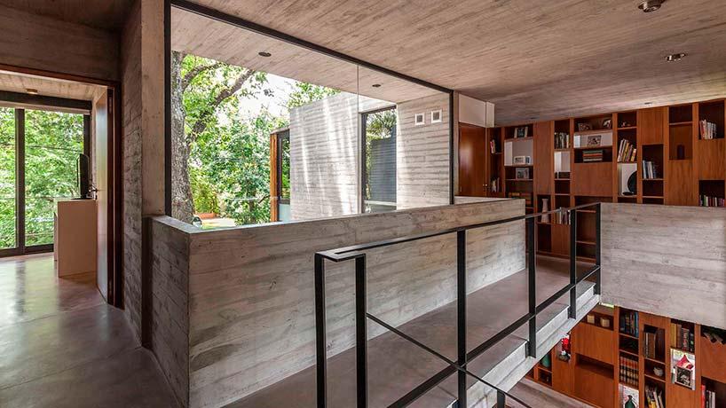 Дом из дерева и бетона в Аргентине