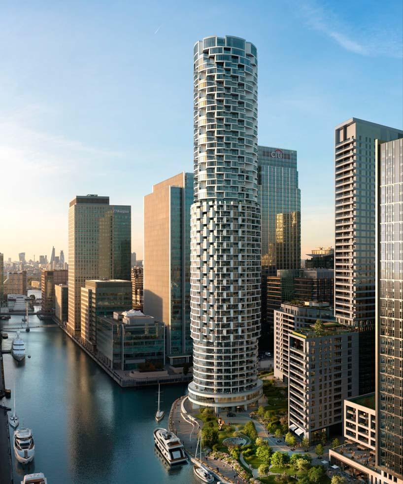 Цилиндрическая башня в Лондоне One Park Drive