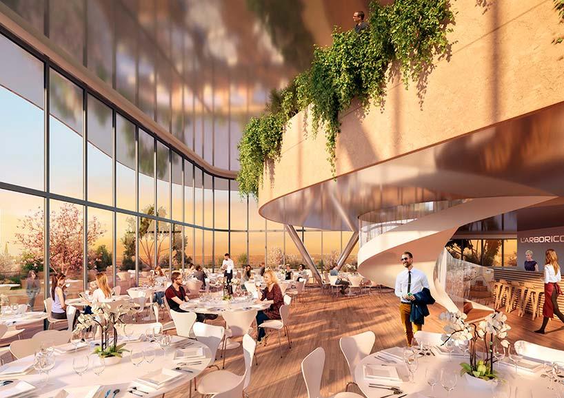 Ресторан-сад комплекса Arboricole от Винсента Каллебо