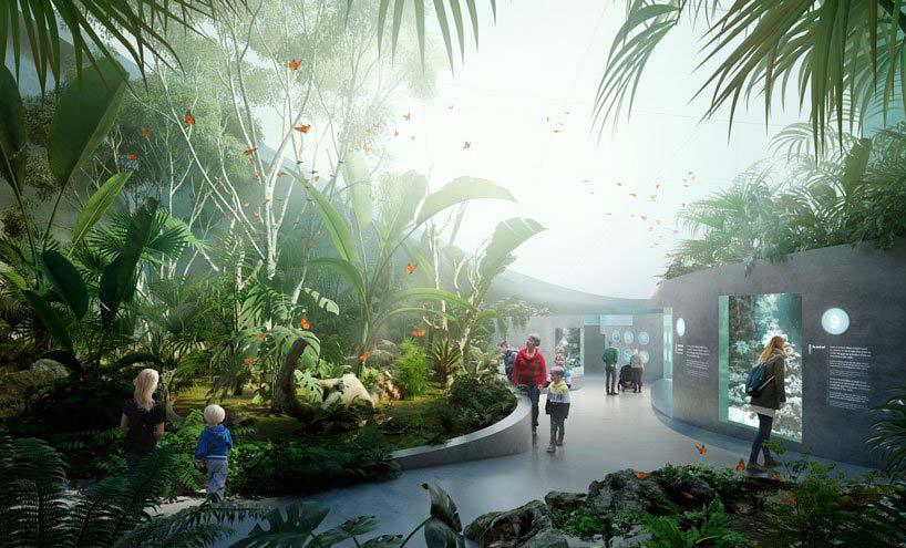 Внутри четырехэтажного ландшафтного аквариума