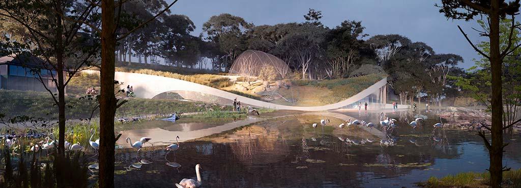 Ландшафтный аквариум в зоопарке Вены от 3XN