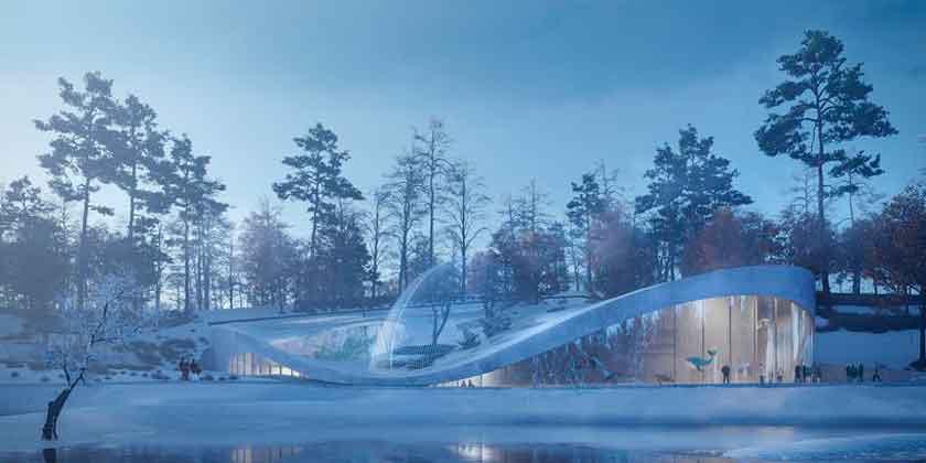 В зоопарке Вены построят ландшафтный аквариум по проекту 3XN
