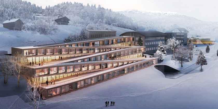 BIG строит отель Audemars Piguet в Швейцарских Альпах | фото