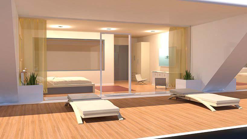 Дизайн интерьера плавающего отеля Waya