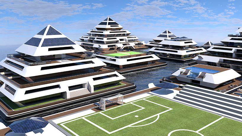 Модульный город на воде Wayland