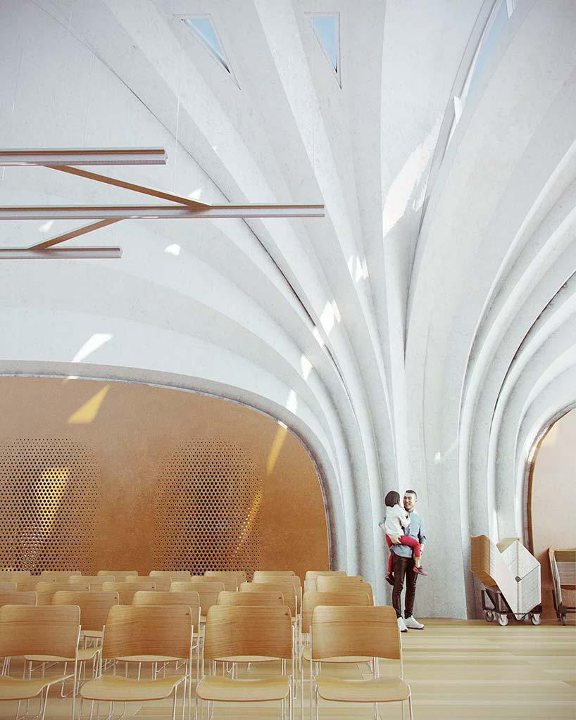Современный дизайн провинциальной школы от Zaha Hadid Architects