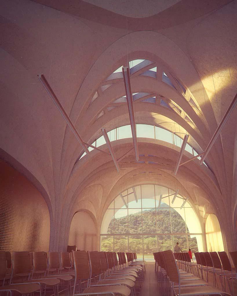Цилиндрические объемы школы от Zaha Hadid Architects