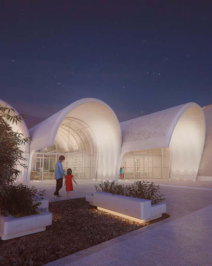 Современная школа в Китае. Проект Zaha Hadid Architects