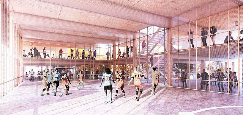 Спортивный центр на базе Вертикальной деревни