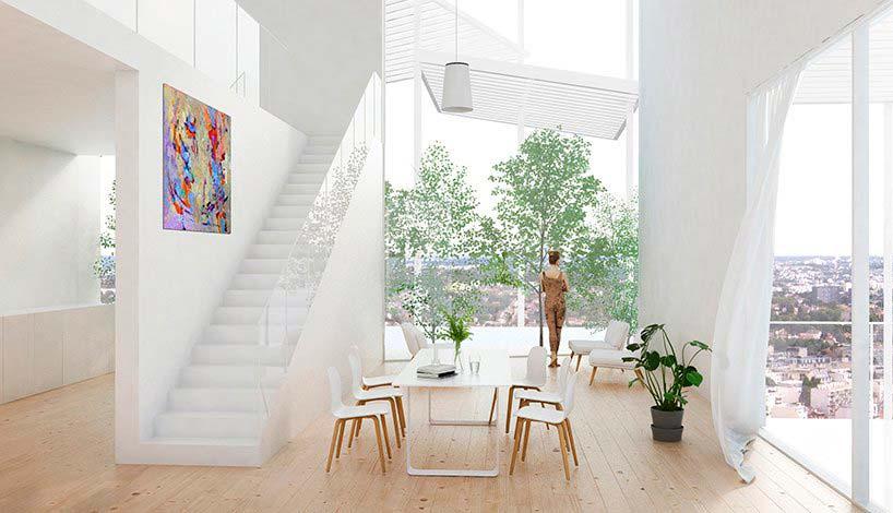 Дизайн квартиры в здании Вертикальной деревни