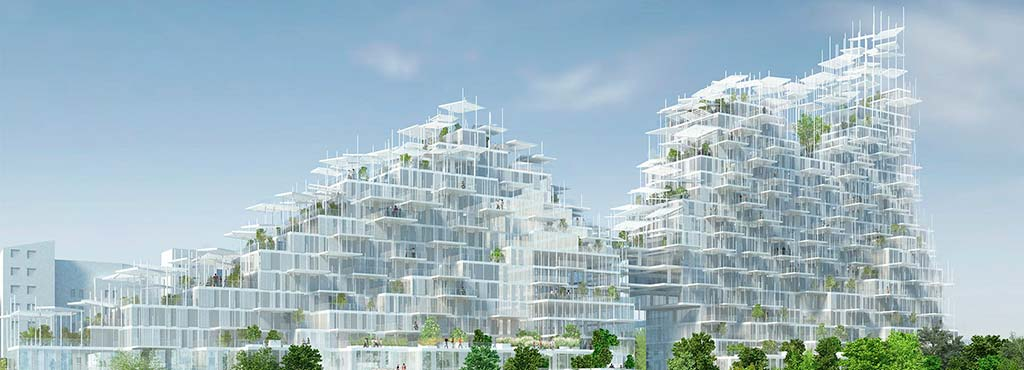 Возможный проект Вертикальной деревни в Париже