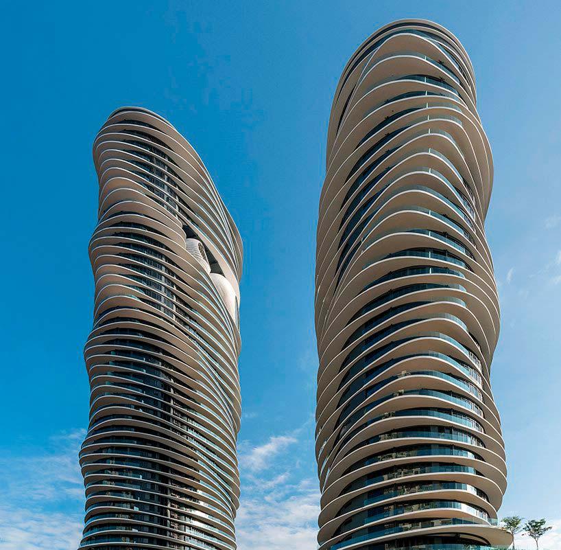 Волнистые башни в Малайзии на 50 и 32 этажа