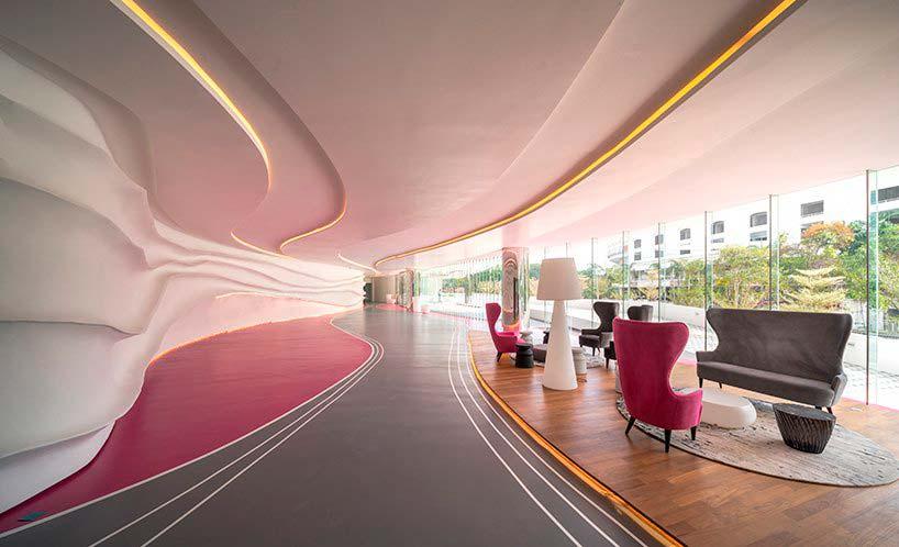 Дизайн интерьера небоскребов от Spark