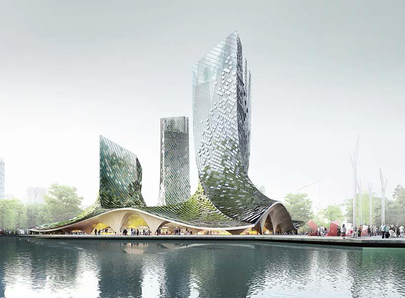 Комплекс небоскребов органической формы от XTU Architects