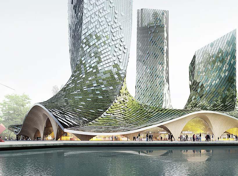 Органические башни Frenchdreamtowers в Ханчжоу, Китай