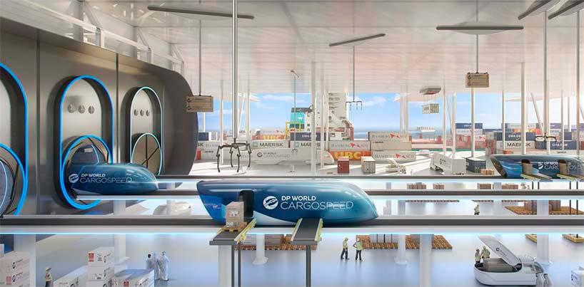 Вакуумный терминал Virgin Hyperloop One от Нормана Фостера