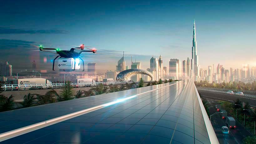 Дизайн вакуумного терминала Virgin Hyperloop One от Фостера