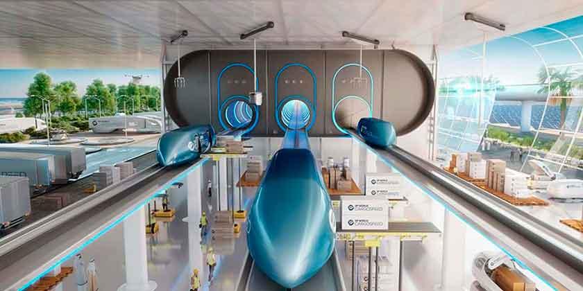 Foster + Partners показал терминал Virgin Hyperloop One